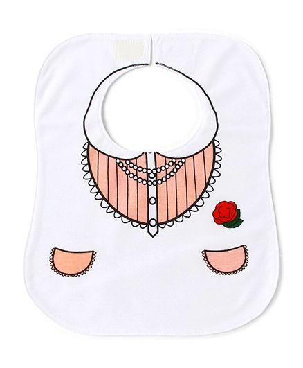 Little Hip Boutique Dress Bib - Baby Pink & White