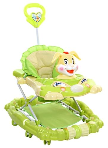 Fab N Funky Rabbit  Walker Cum Rocker - Green