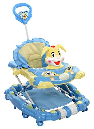 Fab N Funky Rabbit  Walker Cum Rocker - Blue