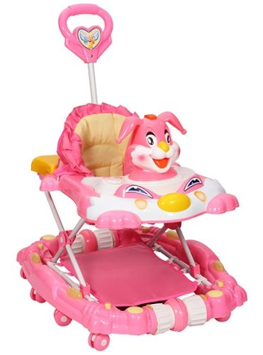 Fab N Funky Rabbit  Walker Cum Rocker - Pink