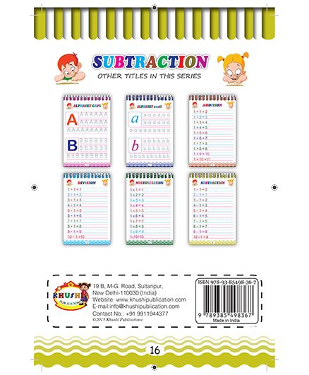 Subtraction Book - English