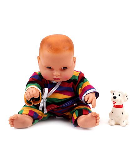 Speedage Cute Baby Doll With Pet - Multicolor