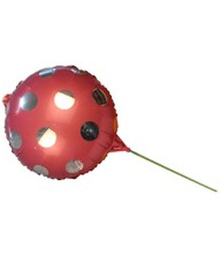 Partymanao Big Round Polka Dot Balloon With Starws - Pink