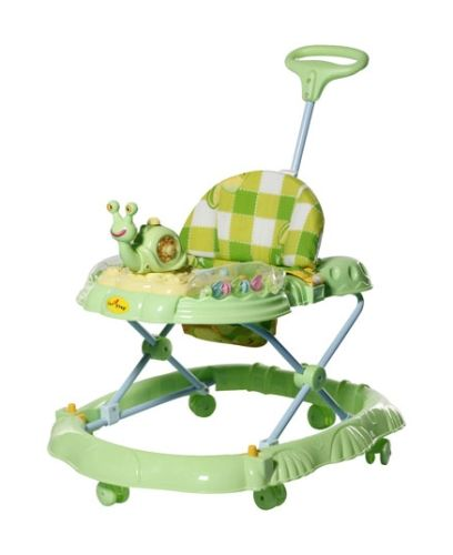 1st Step Musical Baby Walker With Push Handle - Green