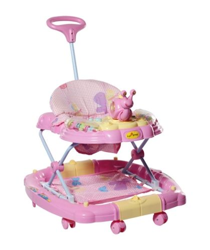 1st Step Baby Walker Cum Rocker - Pink