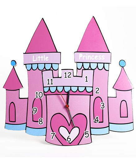 Baby Oodles Castle Wall Clock - Pink