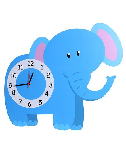Baby Oodles Elephant Wall Clock - Blue