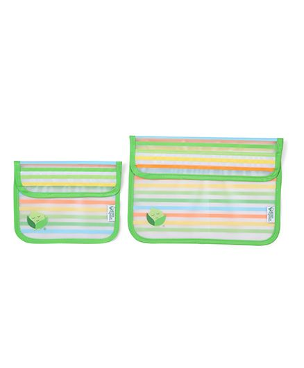 I Play Reusable Snack Bag Set Of 2 - Green