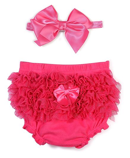 Lovespun Attractive Diaper Cover & Headband Set - Pink