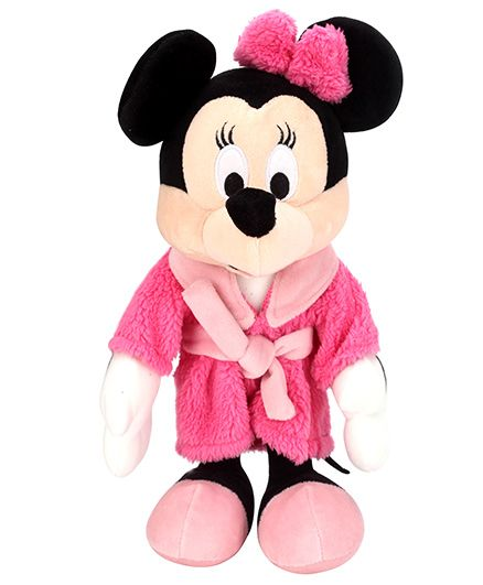 Disney Bedtime Minnie Mouse in Robe Pink - 25 cm