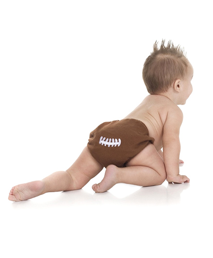 juDanzy Classic Diaper Cover - Brown