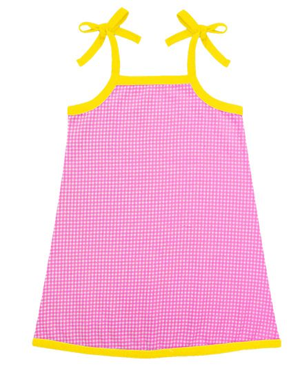 A.T.U.N. Sarah Dress With Gingham Pattern - Pink