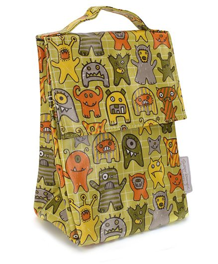 Sugar Booger Multic Print Classic Lunch Sack - Olive Green