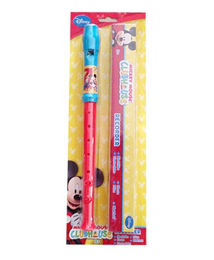 Disney Mickey Flute With Box - Red