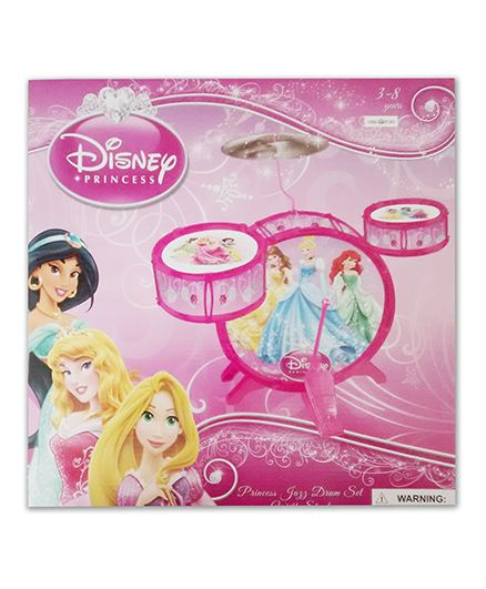Disney Disney Princess Jazz Drum Set With Stool - Pink