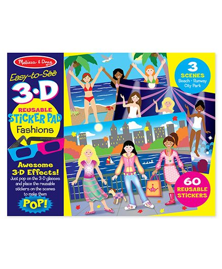 Melissa And Doug 3D Coloring Book Fashions - Multicolor
