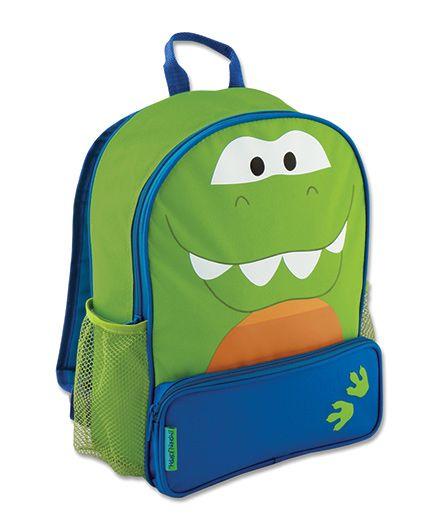 Stephen Joseph Sidekicks Backpack Dino Design - Green