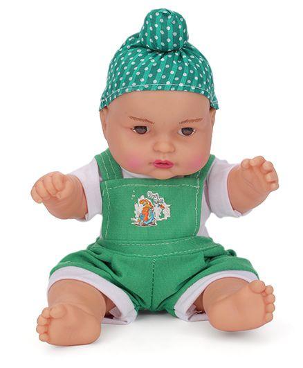Speedage Happy Singh Junior Doll Green - Height 9 Inches
