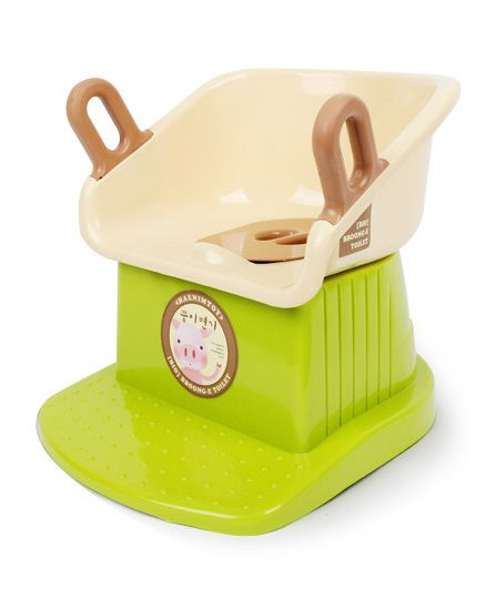 Babycenter India Baby Potty Trainer - Green And Cream