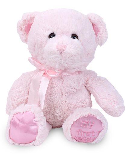 Starwalk Plush Teddy Bear With Bow Pink - 25 cm