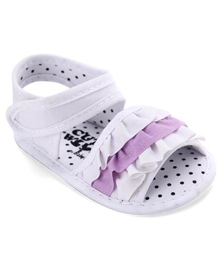 Cute Walk by Babyhug Sandals Style Booties - White Purple
