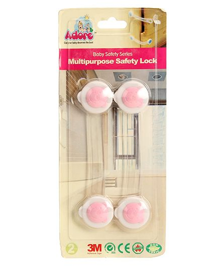 Adore Baby Multipurpose Safety Latch - Pink
