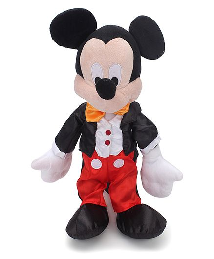 Disney Mickey Plush Toy Red Black - 35 cm