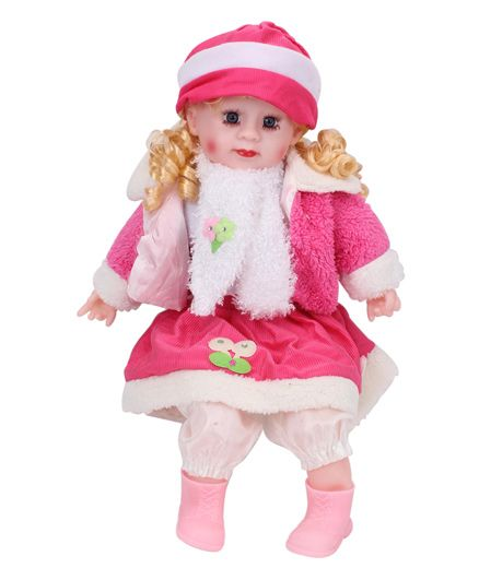Smiles Creation Doll In Jacket Dark Pink - Height 22 Inches