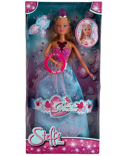 Simba Steffi Princess Doll Blue Pink - 11 Inches