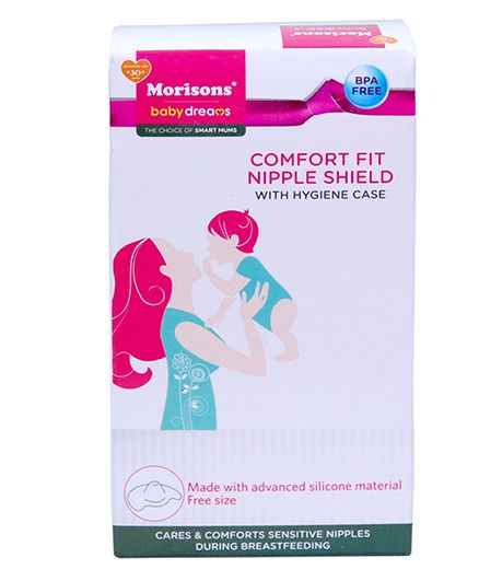 Morisons Baby Dreams Comfort Fit Nipple Shield With Hygiene Case