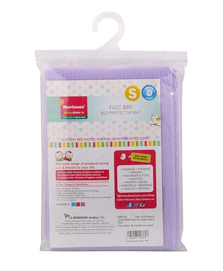Morisons Baby Dreams Fast Dry Baby Mat Purple - Small