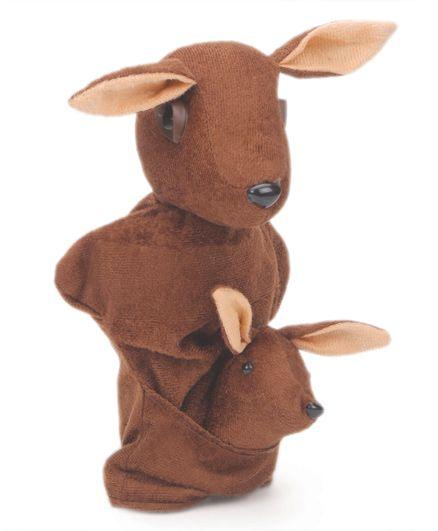 IR Hand Puppet Kangaroo Chocolate Brown - 30 cm