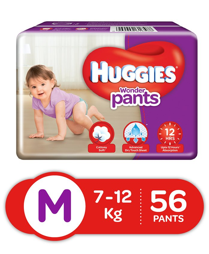 Huggies Wonder Pants Medium Size Pant Style Diapers - 56 Pieces