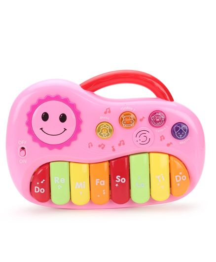 Musical Sun Print Piano Toy - Pink