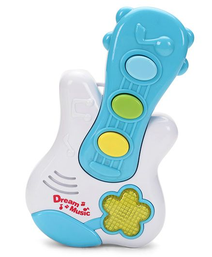 Dream Musical Guitar Baby Toy - White & Blue