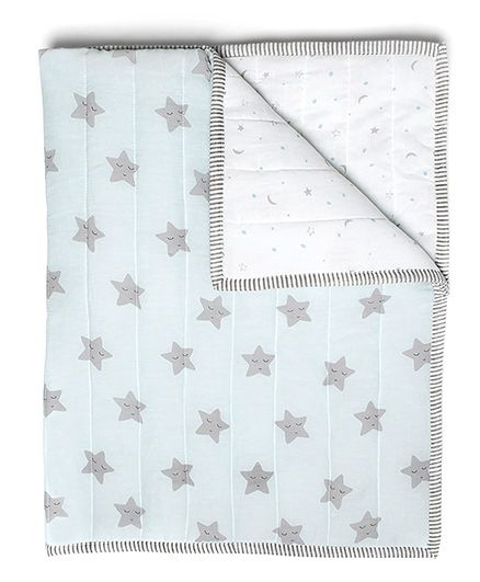 Masilo Quilted Blanket Star Print - Blue