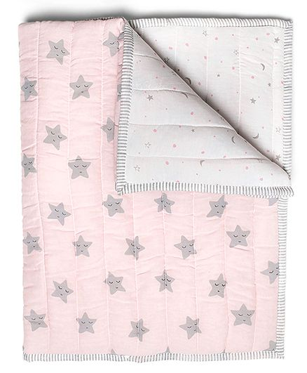 Masilo Quilted Blanket Star Print - Pink