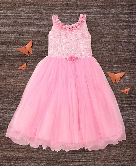 M'Princess Flower Design Gown - Pink