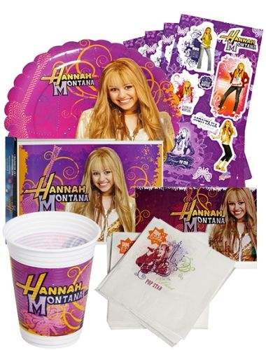 Hannah Montana Birth Day Party Kit (Set of 6)