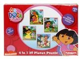 Funskool  -  4 In 1 Puzzle  -  Nick Jr. Dora The Explorer 4 Years+, 30 pieces,  Puzzle me together! Four adven...