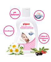 Pigeon - Baby Milky Lotion 200 Ml, Coloring And Fragrance Free, PH Balanced, Hy...