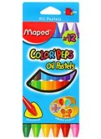 Maped  -  Color Peps Oil Pastels Box of 12, Ideal for colouring activities