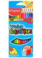 Maped  -  Water Color Peps With Brush 12 Color Pencils To Give Your Drawings A Water Color...