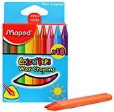 Maped - Wax Crayons Box Of 18 - Box Of 18 Crayons