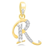 Eva Jewels - Beautiful 'R' Shaped Pendant