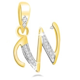 Eva Jewels - Beautiful 'W' Shaped Pendant