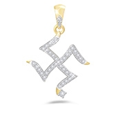 Eva Jewels - Beautiful 'Swastik' Shape Pendant