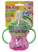Nuby - No-Spill - Super Straw - Grip'N Sip