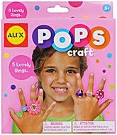 Pops Craft 5 Lovely Rings 5 Years +,Just peel and stick to make 5 ravishing ri...