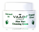 Vaadi Herbals Aloe Vera Cleansing Cream - Grapeseed Extract & Cedarwood Oil
